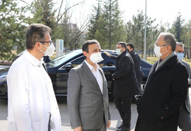 AK Parti Genel Başkan Yardımcısı Mehmet Özhaseki Erciyes Üniversitesi'ni Ziyaret Etti