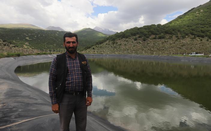 Büyükşehir'den Erciyes'in zirvesinde hayvanlar için 4 ayrı gölet