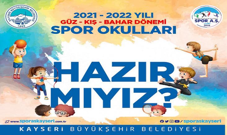 Büyükşehir spor A.Ş de 2.güz dönemi spor okulları kayıtları başladı