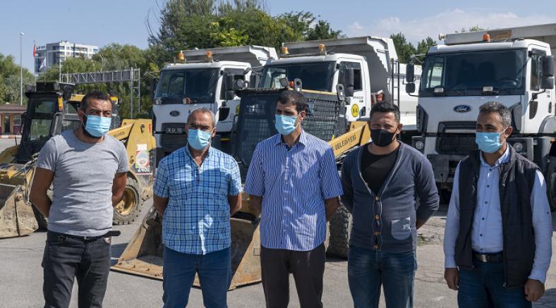 Kayseri Büyükşehir ve ilçe belediyeleri, Afet bölgesi Bozkurt'ta yaraları sardı